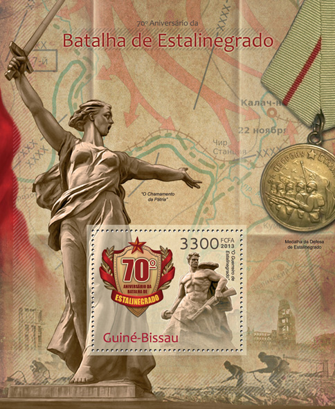 Stalingrad - Issue of Guinée-Bissau postage stamps