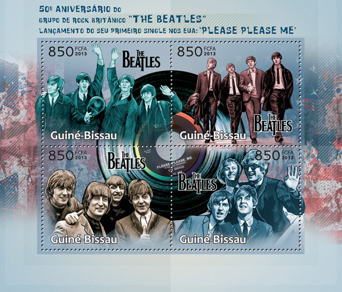 The Beatles - Issue of Guinée-Bissau postage stamps