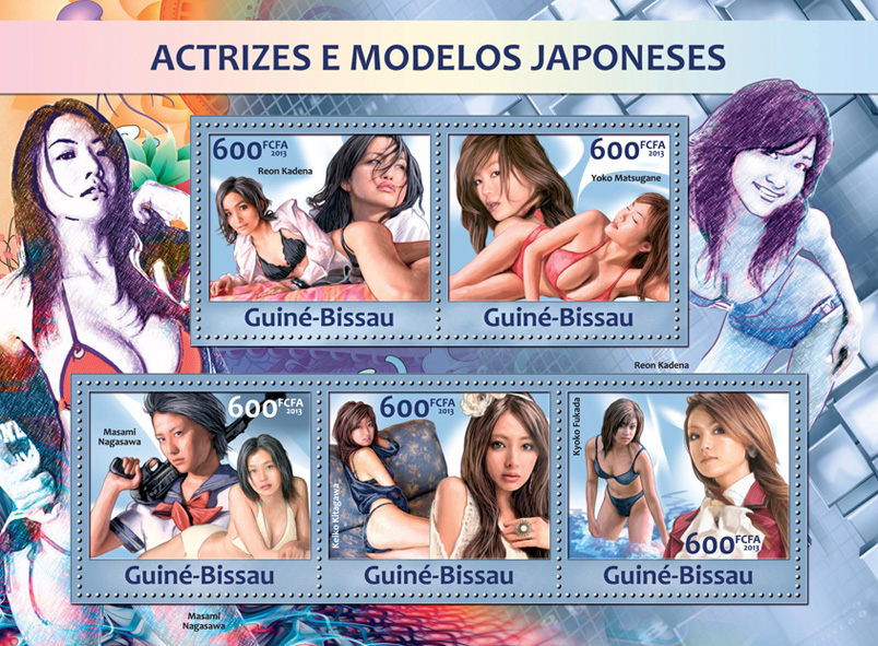 Models of Japan - Issue of Guinée-Bissau postage stamps