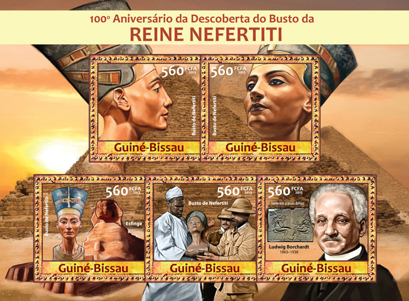 Queen Nefertiti - Issue of Guinée-Bissau postage stamps