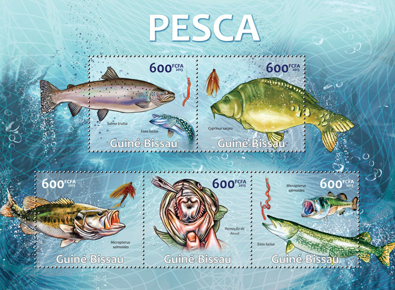 Fishing - Issue of Guinée-Bissau postage stamps