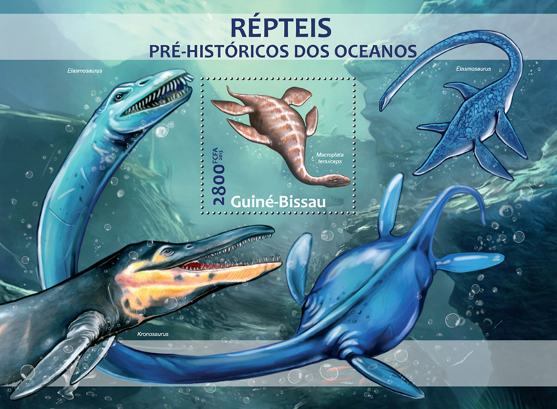 Water dinosaurs - Issue of Guinée-Bissau postage stamps