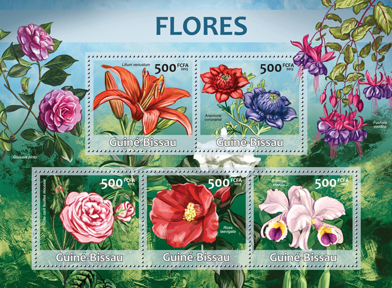 Flowers - Issue of Guinée-Bissau postage stamps