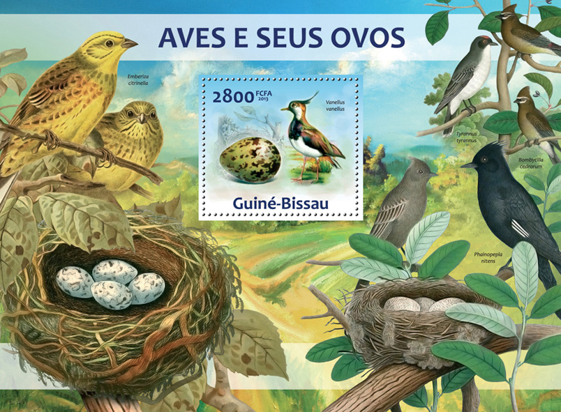 Birds & Their Eggs - Issue of Guinée-Bissau postage stamps
