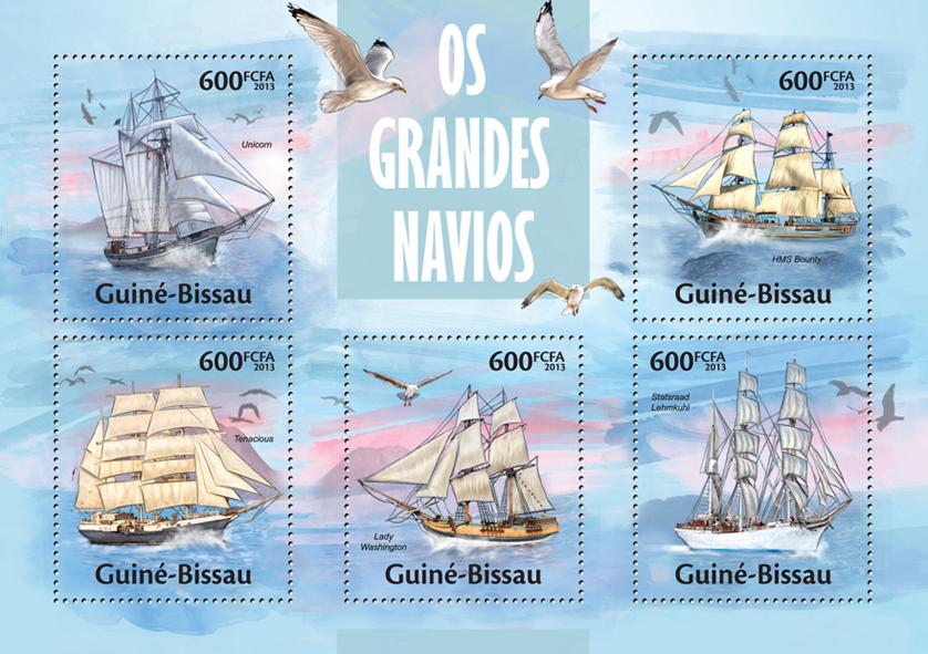 Ships - Issue of Guinée-Bissau postage stamps