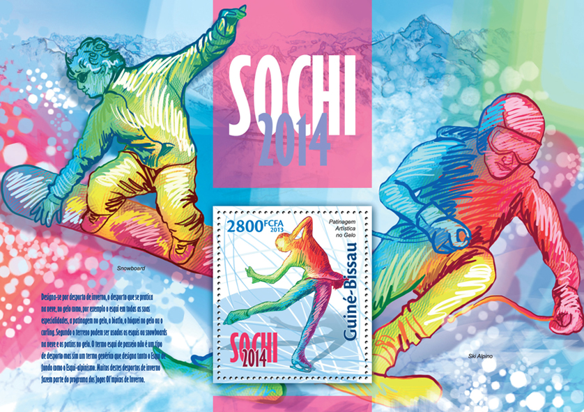 Sochi 2014 - Issue of Guinée-Bissau postage stamps
