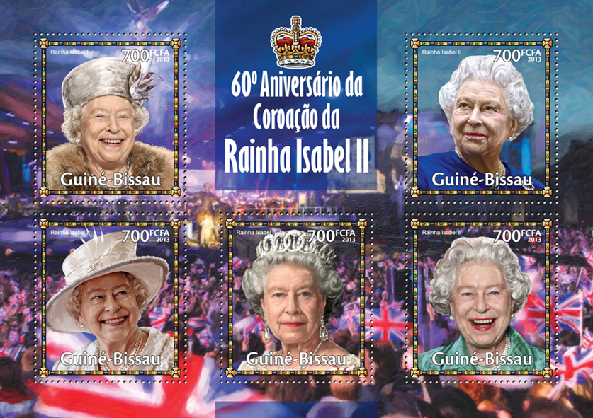 Elizabeth II - Issue of Guinée-Bissau postage stamps