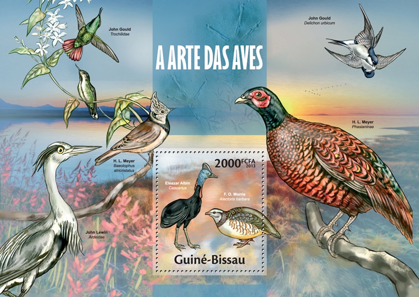 Bird Art - Issue of Guinée-Bissau postage stamps