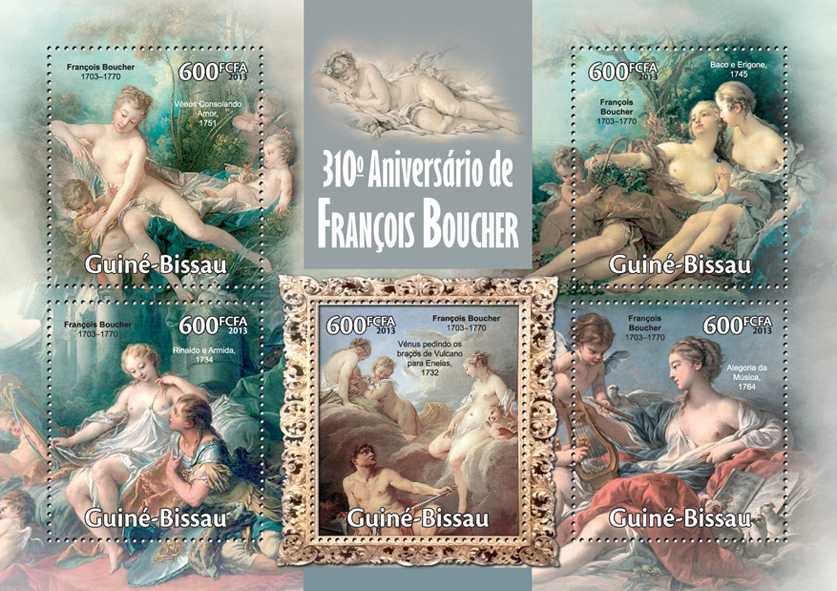 Francois Boucher - Issue of Guinée-Bissau postage stamps