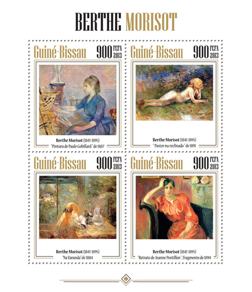 Berthe Morisot - Issue of Guinée-Bissau postage stamps