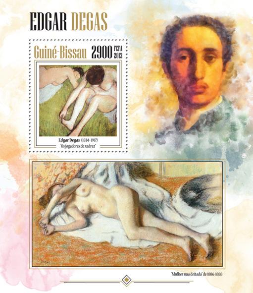 Edgar Degas - Issue of Guinée-Bissau postage stamps