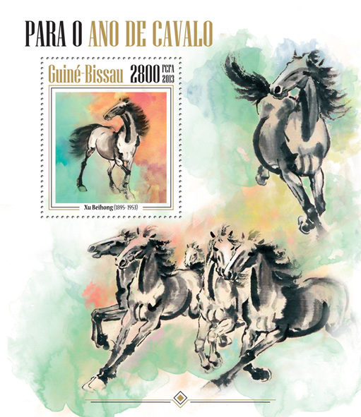 Year of Horse - Issue of Guinée-Bissau postage stamps