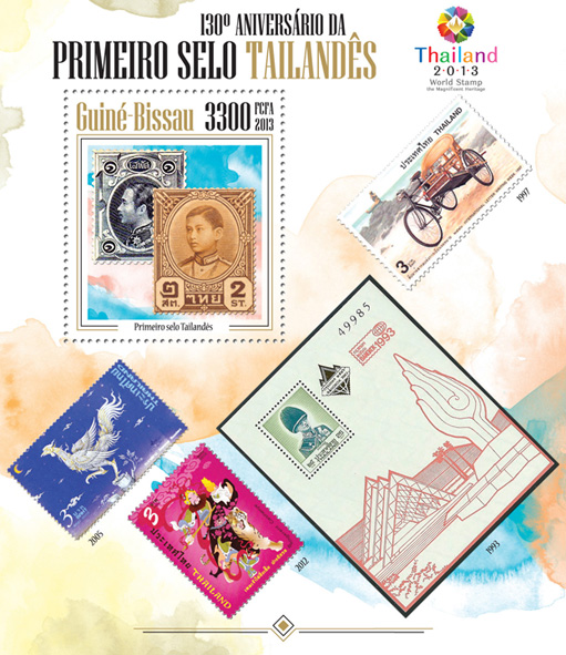 First Thailand post stamp - Issue of Guinée-Bissau postage stamps