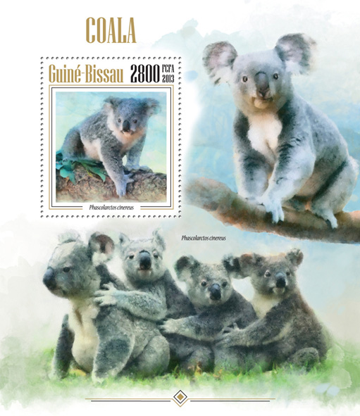 Koalas - Issue of Guinée-Bissau postage stamps