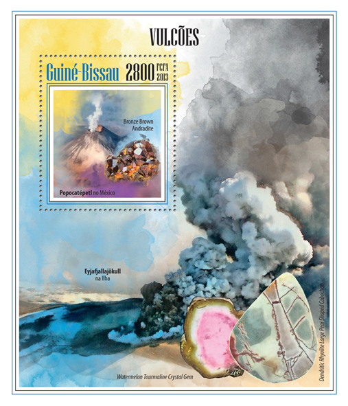 Volcano - Issue of Guinée-Bissau postage stamps