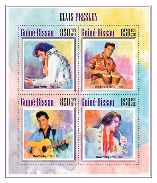 Elvis Presley - Issue of Guinée-Bissau postage stamps