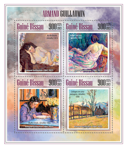 Armand Guillaumin - Issue of Guinée-Bissau postage stamps
