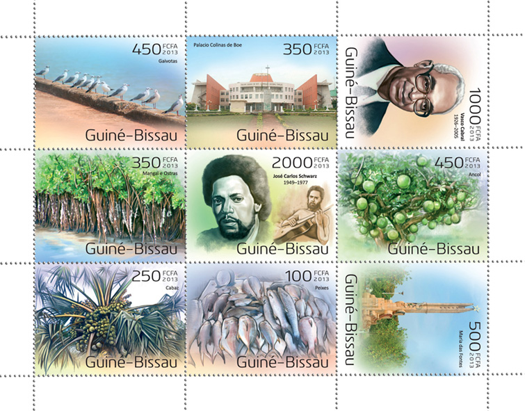 Famous from Guinea Bissau - Issue of Guinée-Bissau postage stamps