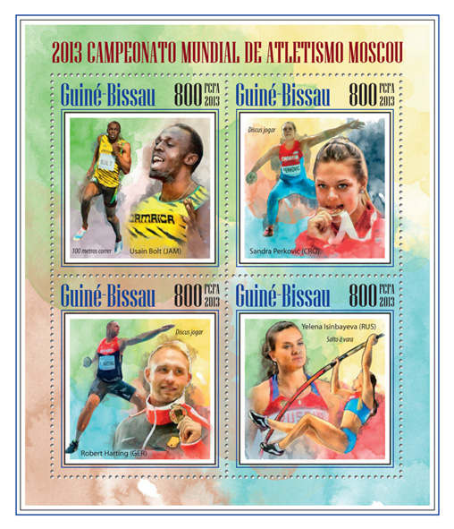 Sport - Issue of Guinée-Bissau postage stamps