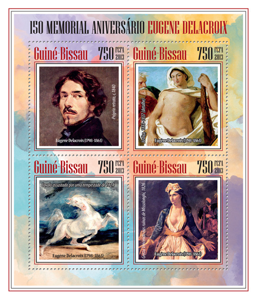 Eugene Delacroix - Issue of Guinée-Bissau postage stamps