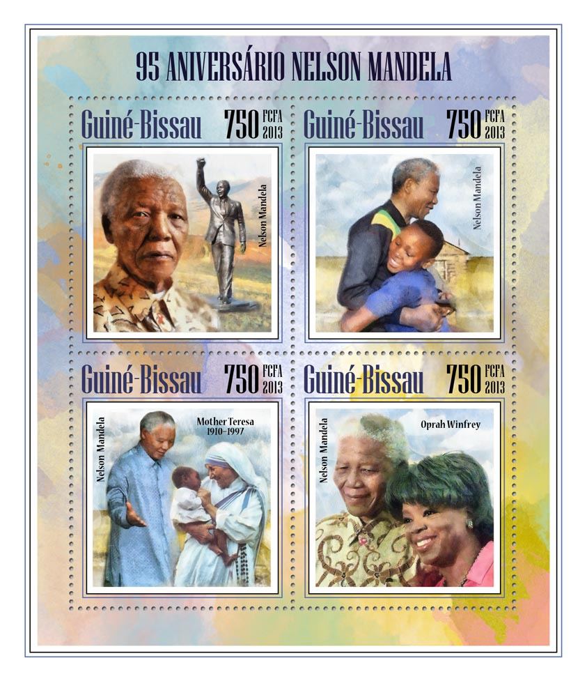 Nelson Mandela - Issue of Guinée-Bissau postage stamps