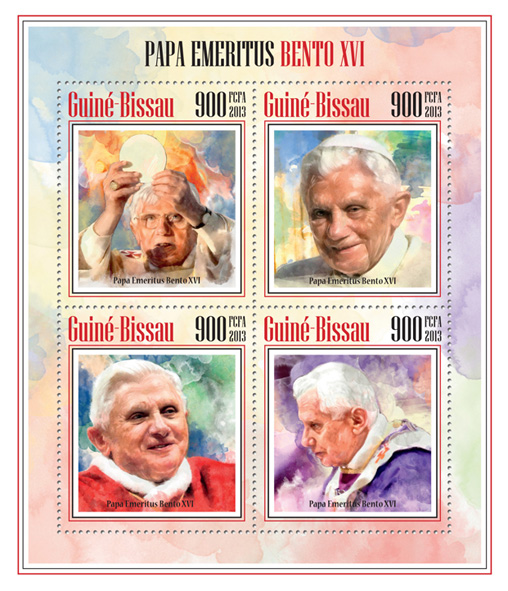Pope Benedict XVI - Issue of Guinée-Bissau postage stamps