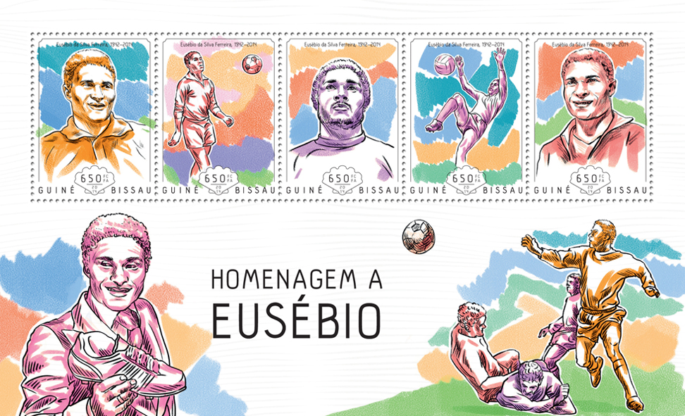 Tribute to Eusebio - Issue of Guinée-Bissau postage stamps