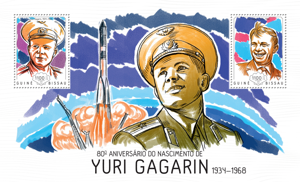 Yuri Gagarin - Issue of Guinée-Bissau postage stamps