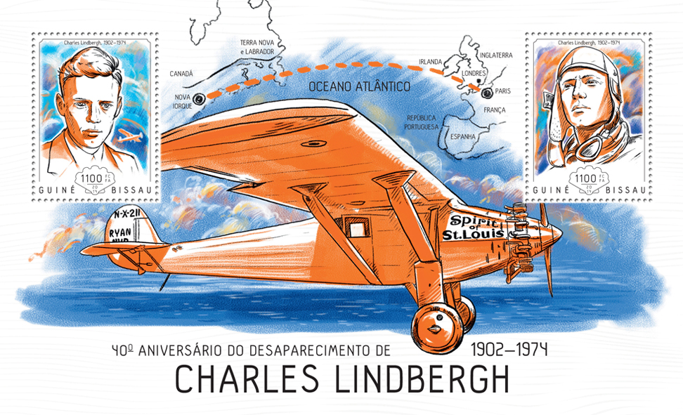 Charles Lindbergh - Issue of Guinée-Bissau postage stamps