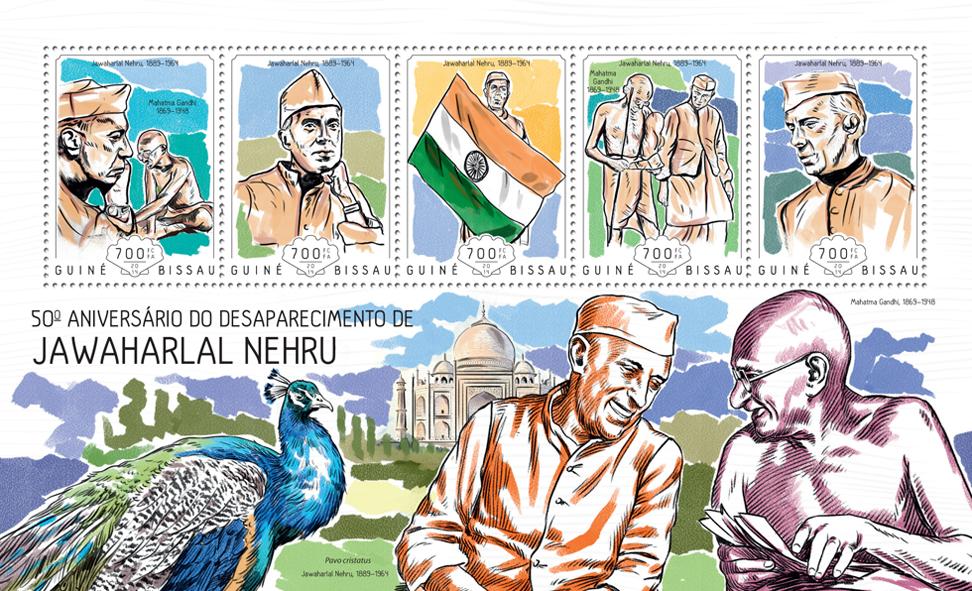 Jawaharlal Nehru - Issue of Guinée-Bissau postage stamps