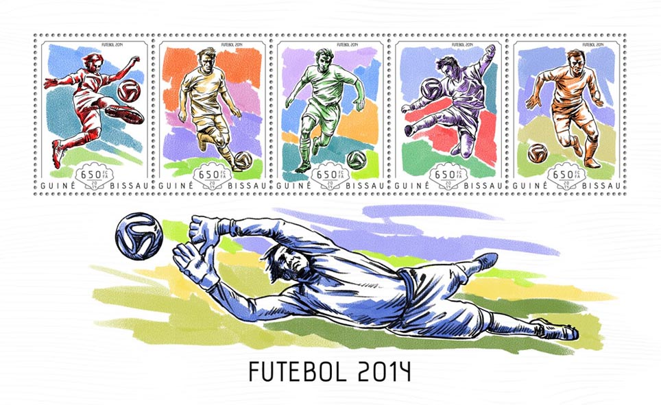 Brazil 2014 - Issue of Guinée-Bissau postage stamps