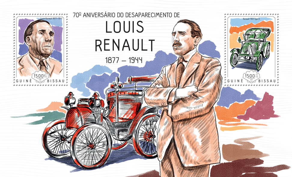 Louis Reanault  - Issue of Guinée-Bissau postage stamps