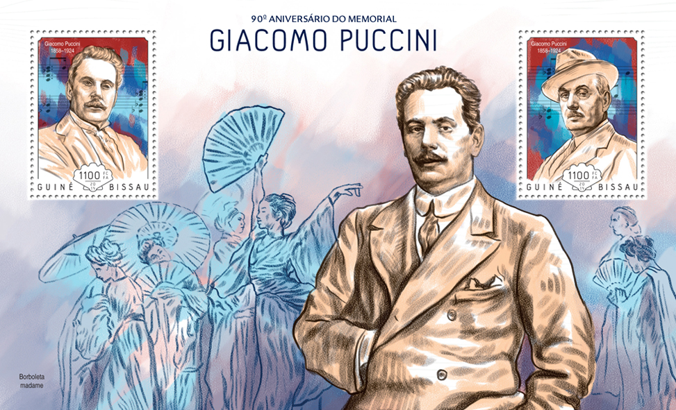 Giacomo Puccini  - Issue of Guinée-Bissau postage stamps