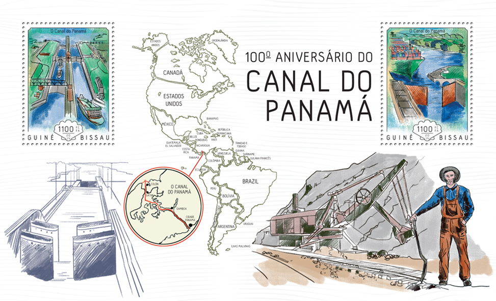 Panama canal  - Issue of Guinée-Bissau postage stamps