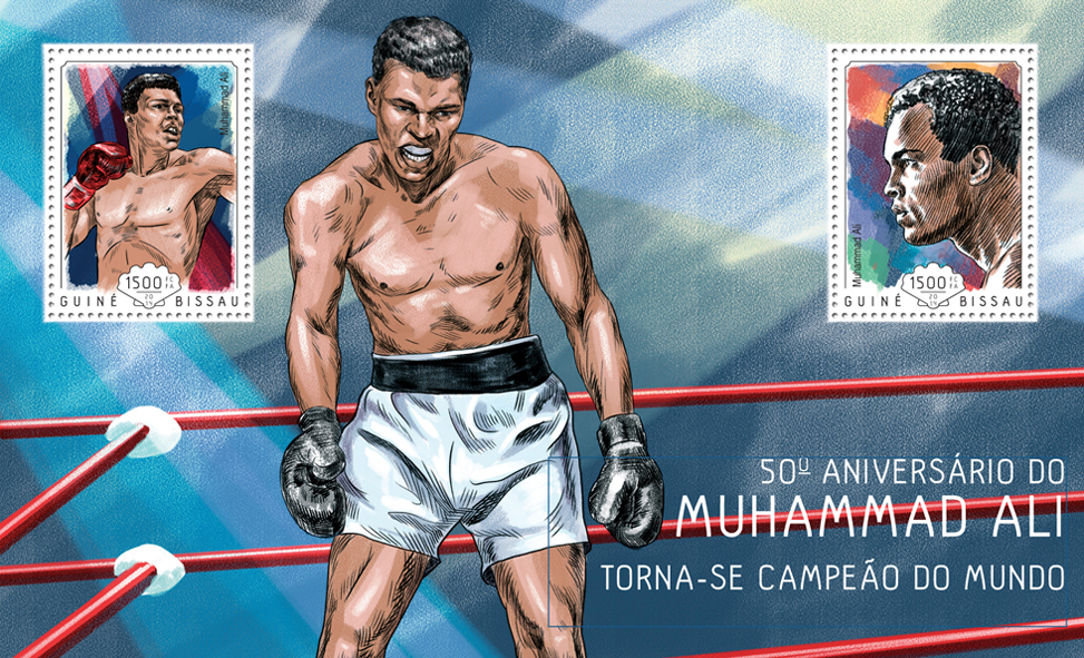 Muhammad Ali - Issue of Guinée-Bissau postage stamps