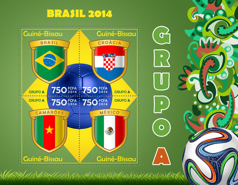 Football – Brazil 2014 - Issue of Guinée-Bissau postage stamps