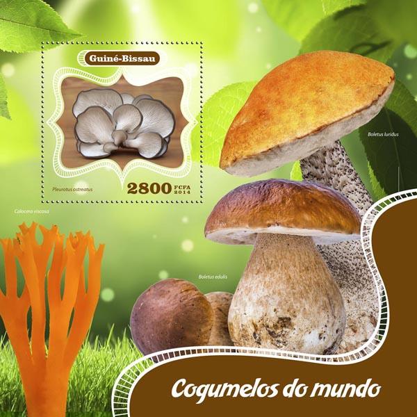 Mushrooms - Issue of Guinée-Bissau postage stamps