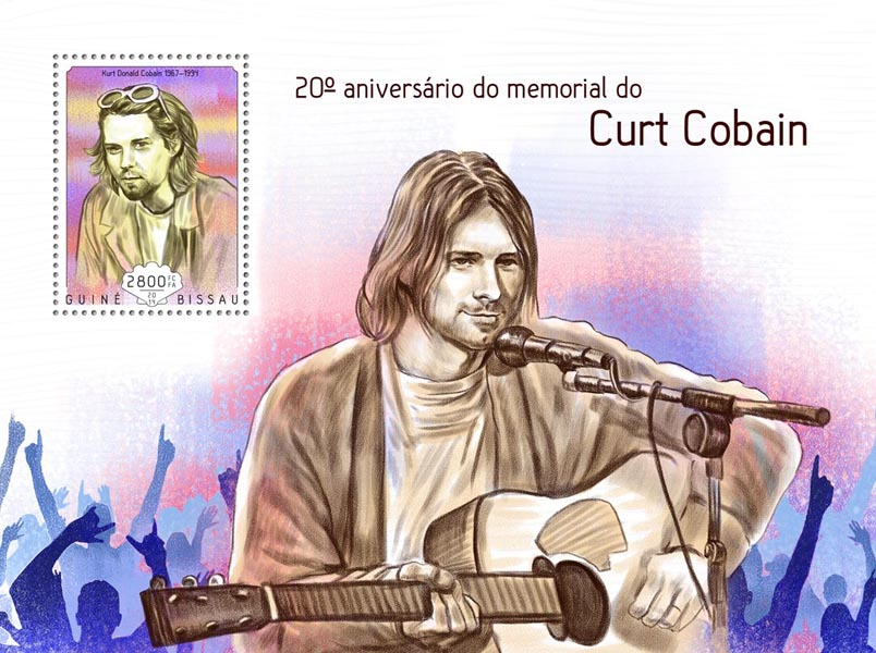 Curt Cobain  - Issue of Guinée-Bissau postage stamps