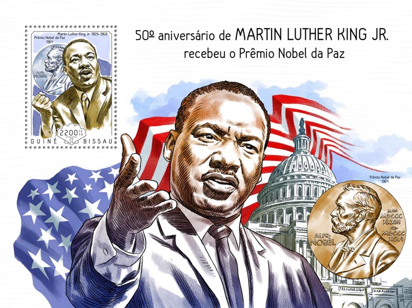 Martin Luther King Jr's - Issue of Guinée-Bissau postage stamps