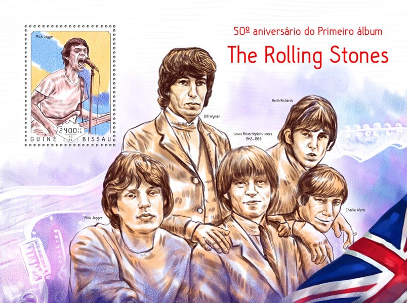 the Rolling Stones - Issue of Guinée-Bissau postage stamps
