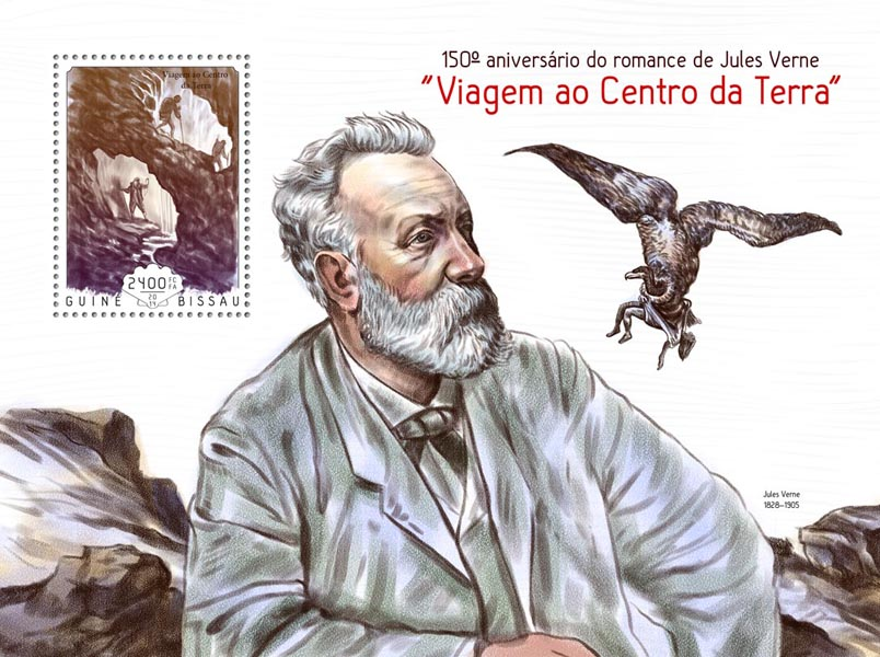 Jules Verne - Issue of Guinée-Bissau postage stamps