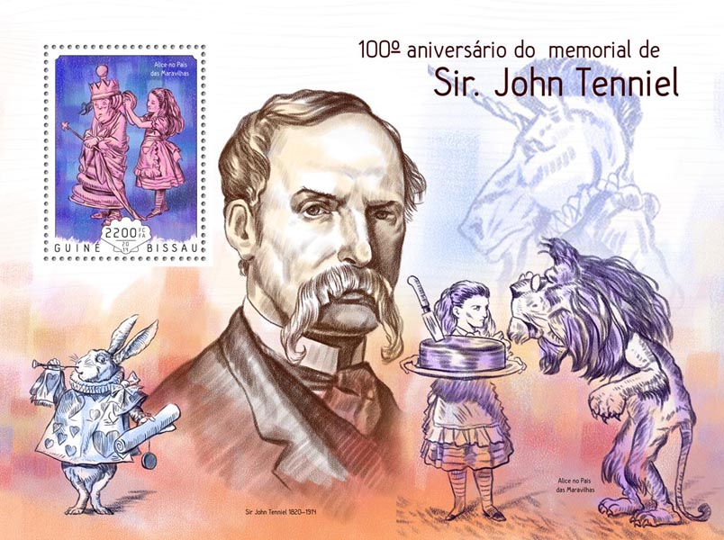 John Tenniel - Issue of Guinée-Bissau postage stamps