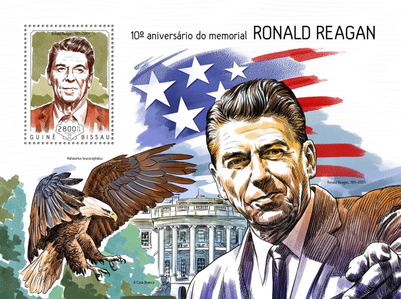 Ronald Reagan  - Issue of Guinée-Bissau postage stamps