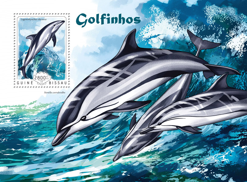 Dolphins - Issue of Guinée-Bissau postage stamps