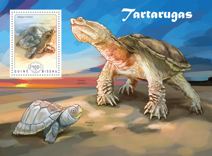 Turtles - Issue of Guinée-Bissau postage stamps