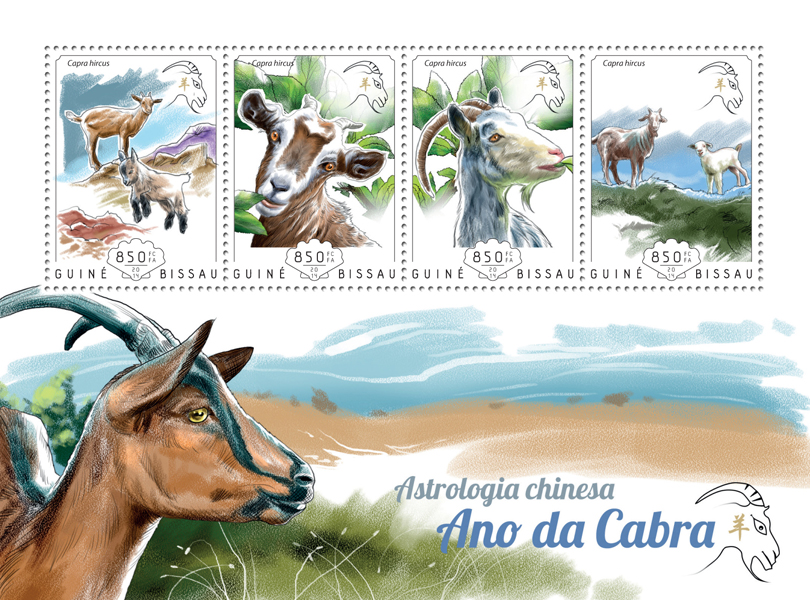 Year of the Goat - Issue of Guinée-Bissau postage stamps
