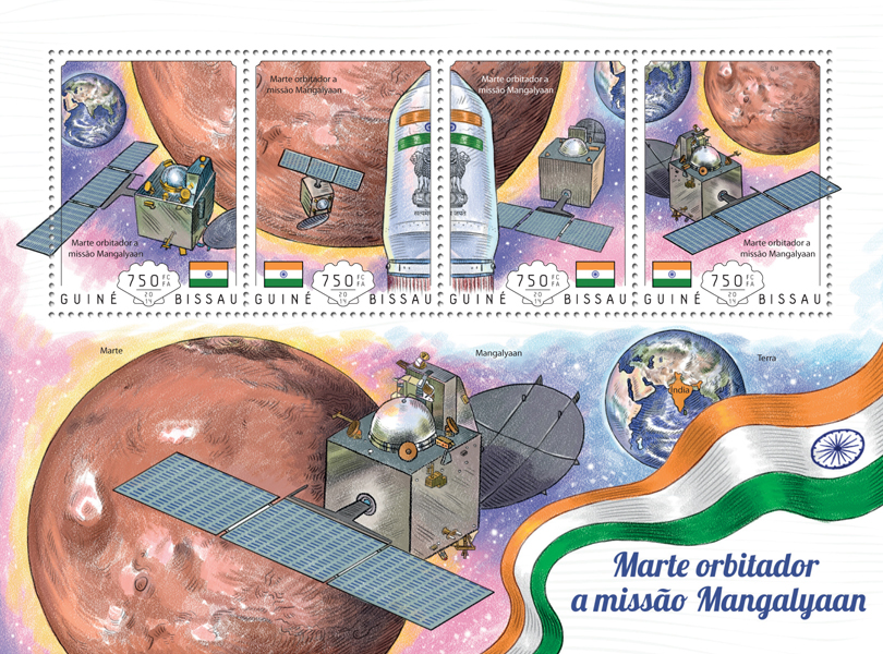 Mars - Issue of Guinée-Bissau postage stamps