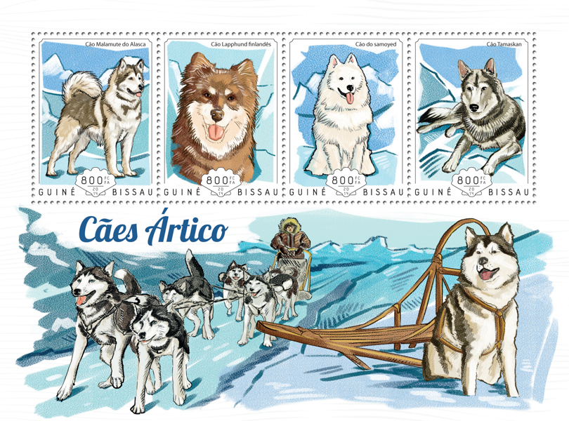 Arctic dogs - Issue of Guinée-Bissau postage stamps