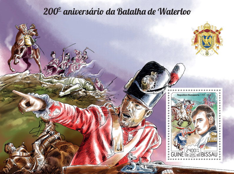 Battle of Waterloo - Issue of Guinée-Bissau postage stamps