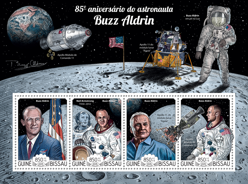Buzz Aldrin  - Issue of Guinée-Bissau postage stamps
